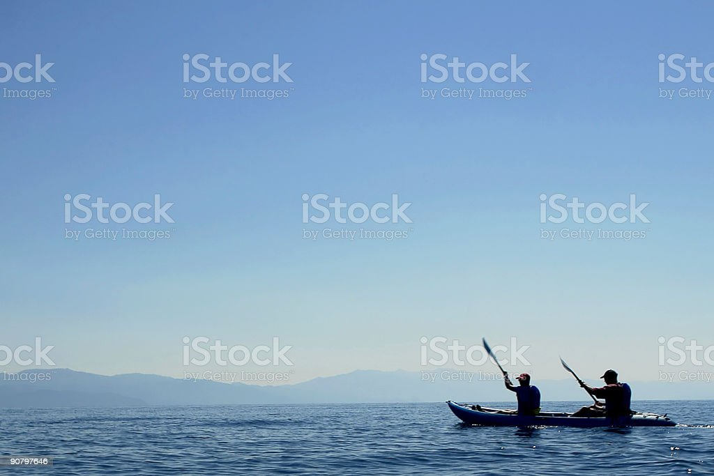 kayaking stock photo