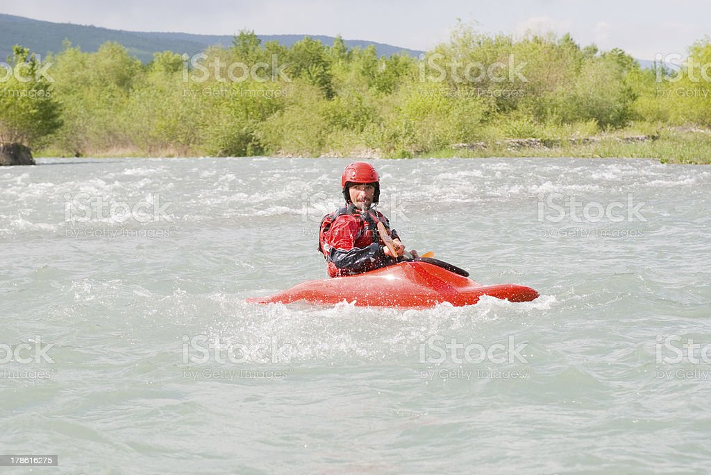 kayaking sport royalty-free stock photo