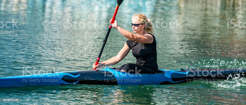 Kayaking sport stock photo