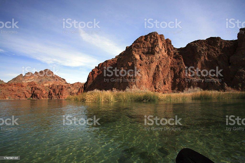 Kayaking the Colorado River royalty-free stock photo