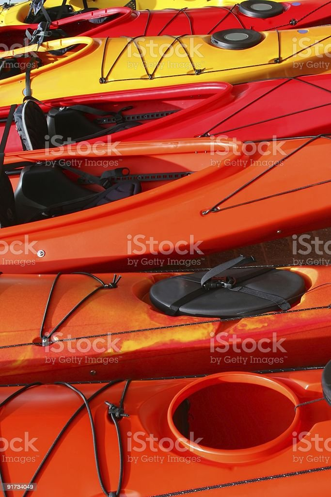 Kayaks Abstract royalty-free stock photo