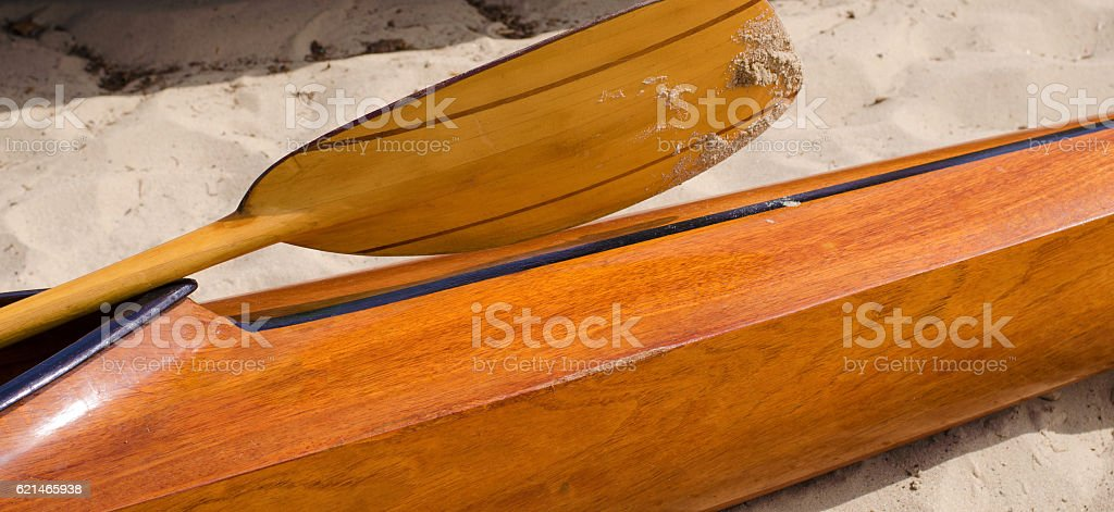 kayaks on the tropical beach. stock photo