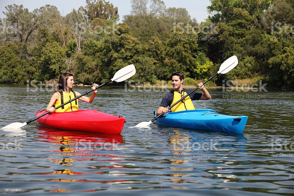 Kayaks On The Water royalty-free stock photo