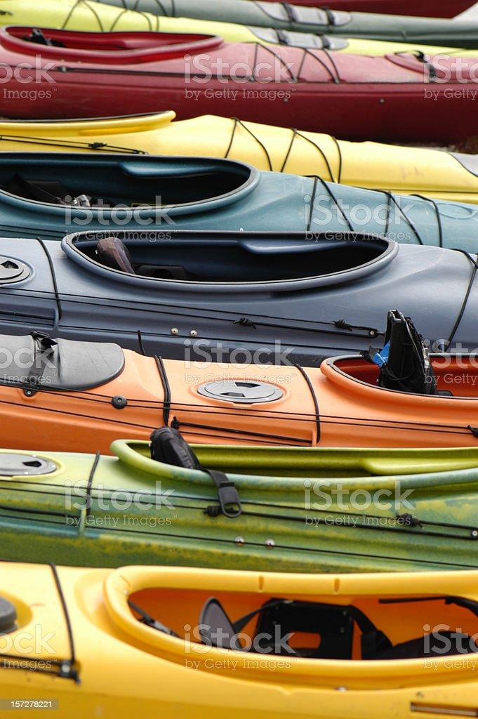 Kayaks royalty-free stock photo
