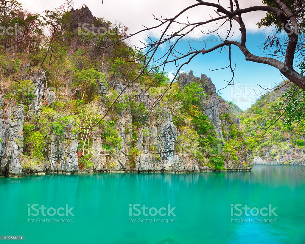 Kayangan lake stock photo