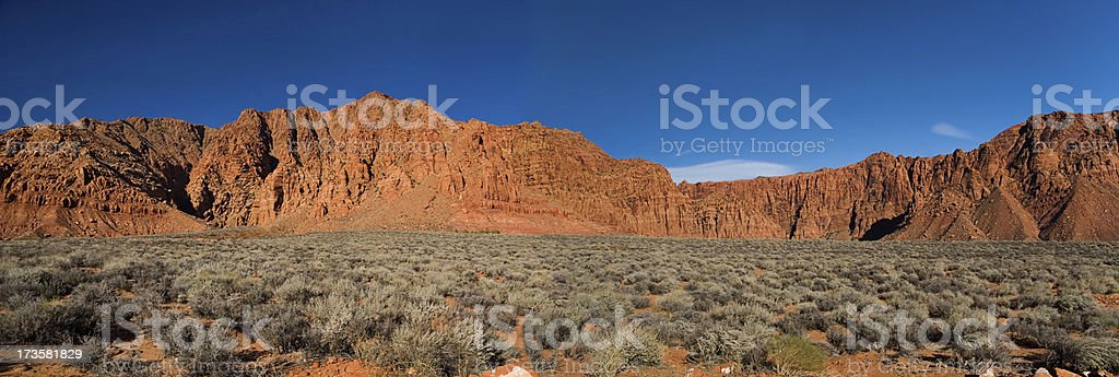 Kayenta Hills Panorama stock photo