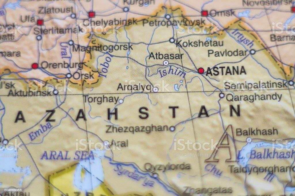 Kazahstan country map . stock photo