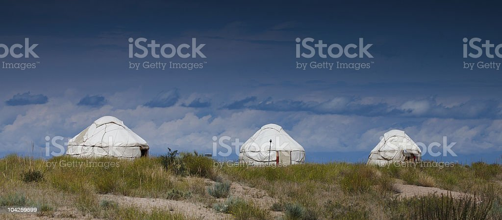 Kazakh, Kyrgyz jurt - national house royalty-free stock photo