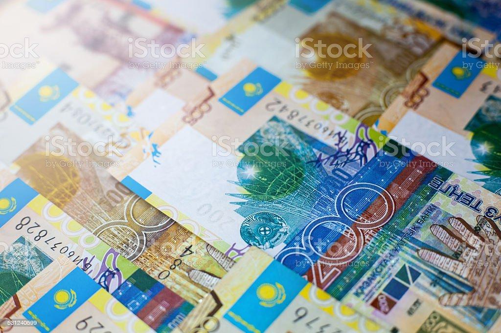 Kazakh paper money tenge stock photo