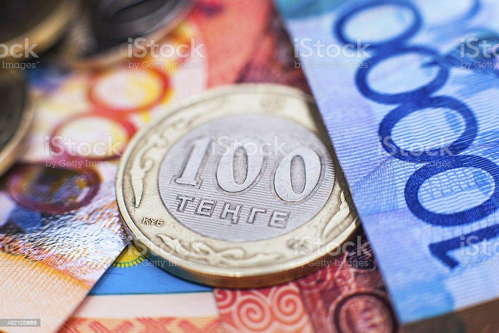 Kazakh tenge money stock photo