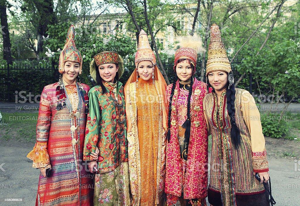 Kazakh Traditional Dress stock photo