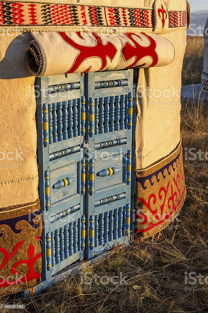 Kazakh yurt stock photo