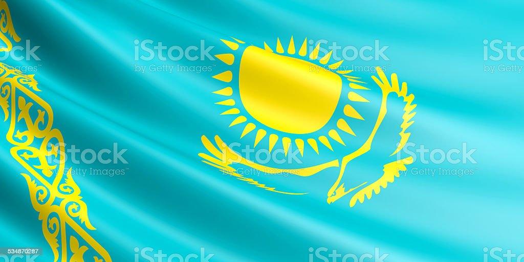 Kazakhstan flag. royalty-free stock photo
