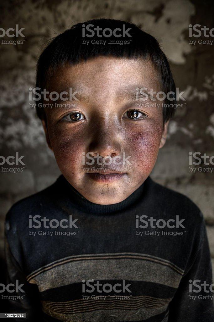 Kazakhstani Boy Portrait royalty-free stock photo