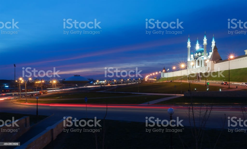 Kazan at night. Russia. stock photo