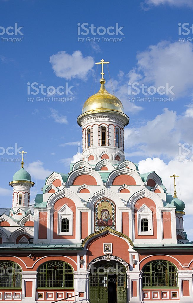 Kazan Cathedral at the Red Square stock photo
