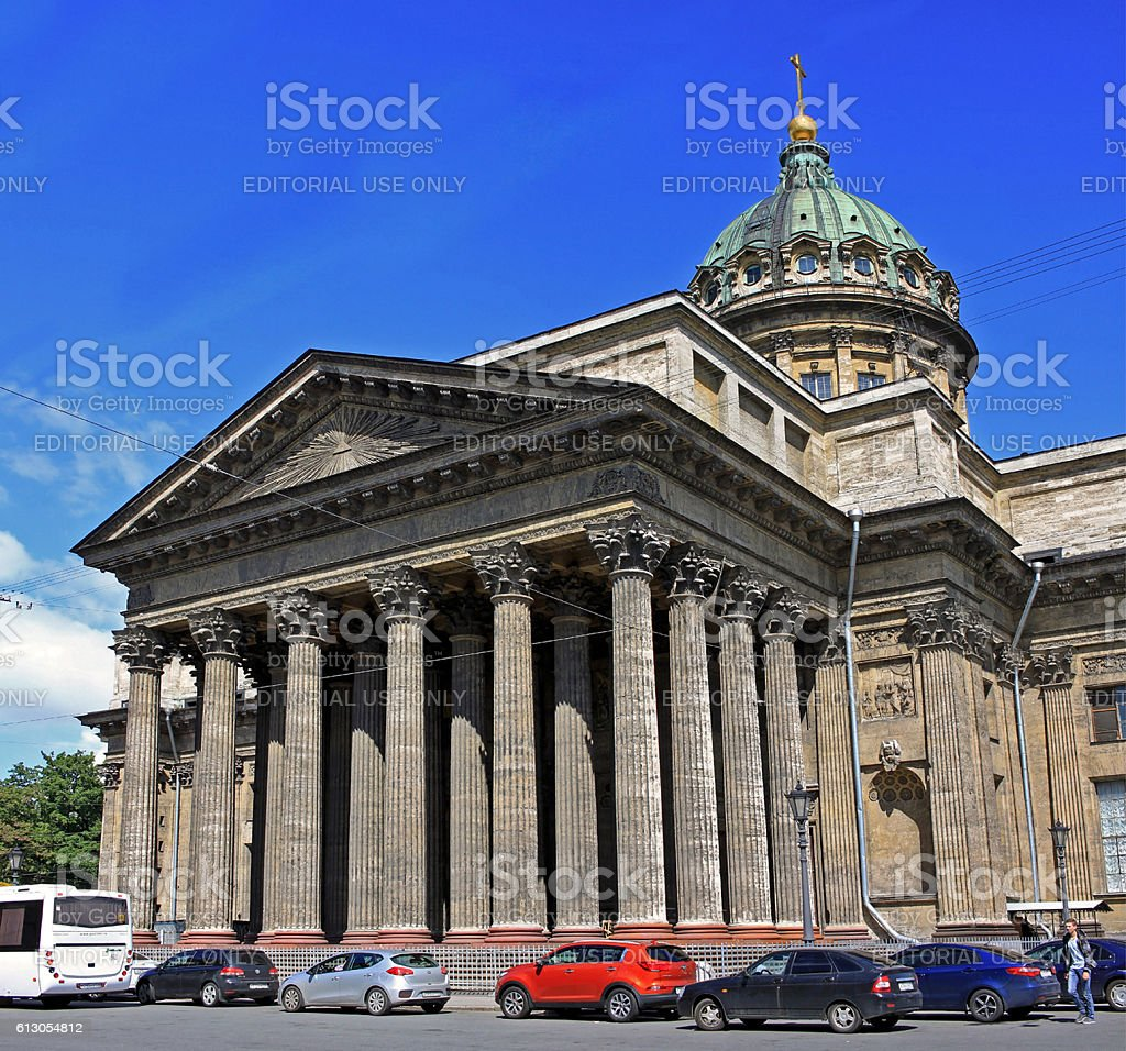 Kazan Cathedral in St. Petersburg, Russia stock photo