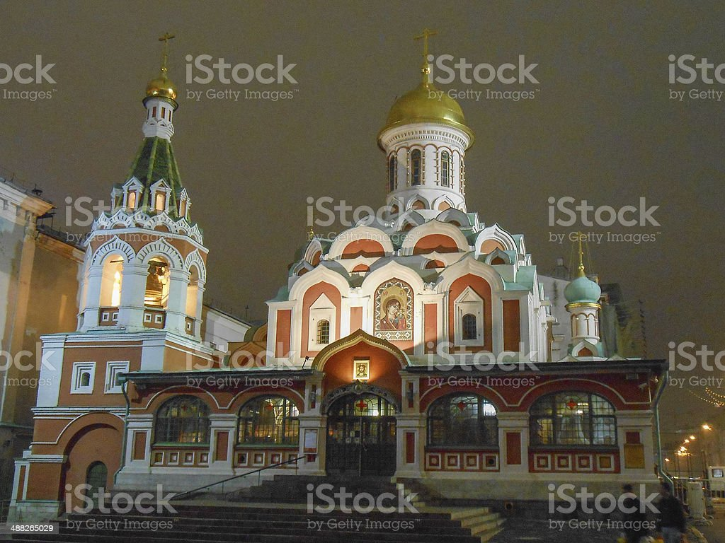 Kazan Cathedral Moscow stock photo