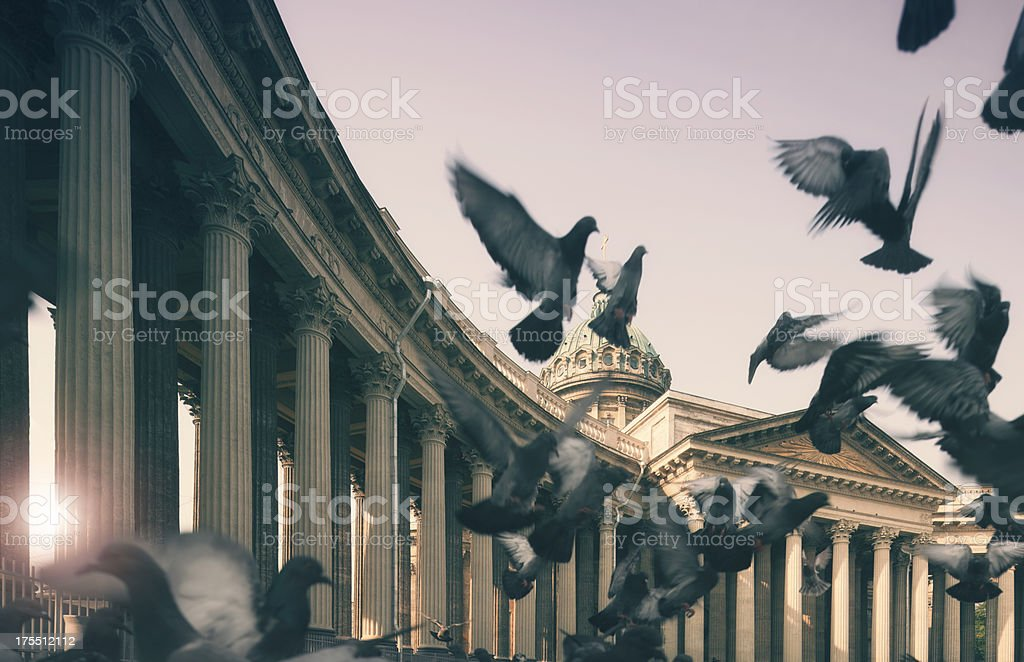 Kazan Cathedral, St. Petersburg, Russia stock photo