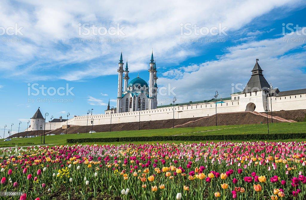 Kazan Kremlin and Kul-Sharif mosque, Tatarstan, Russia stock photo