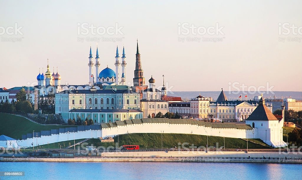 Kazan, Republic Tatarstan, Russia. View of the Kremlin stock photo