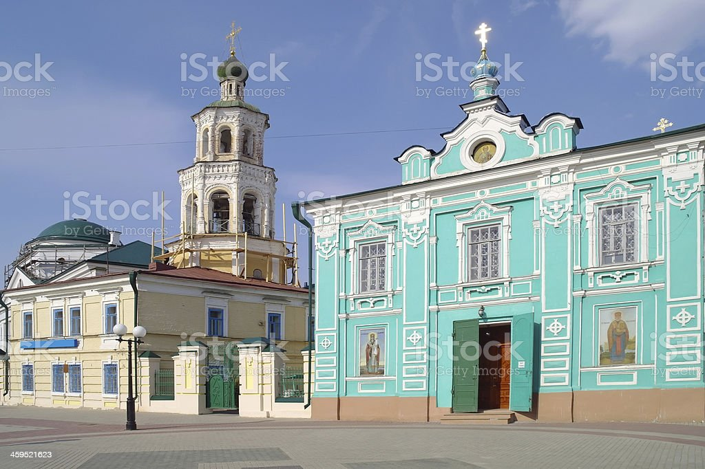 Kazan, St. Nicholas Church stock photo