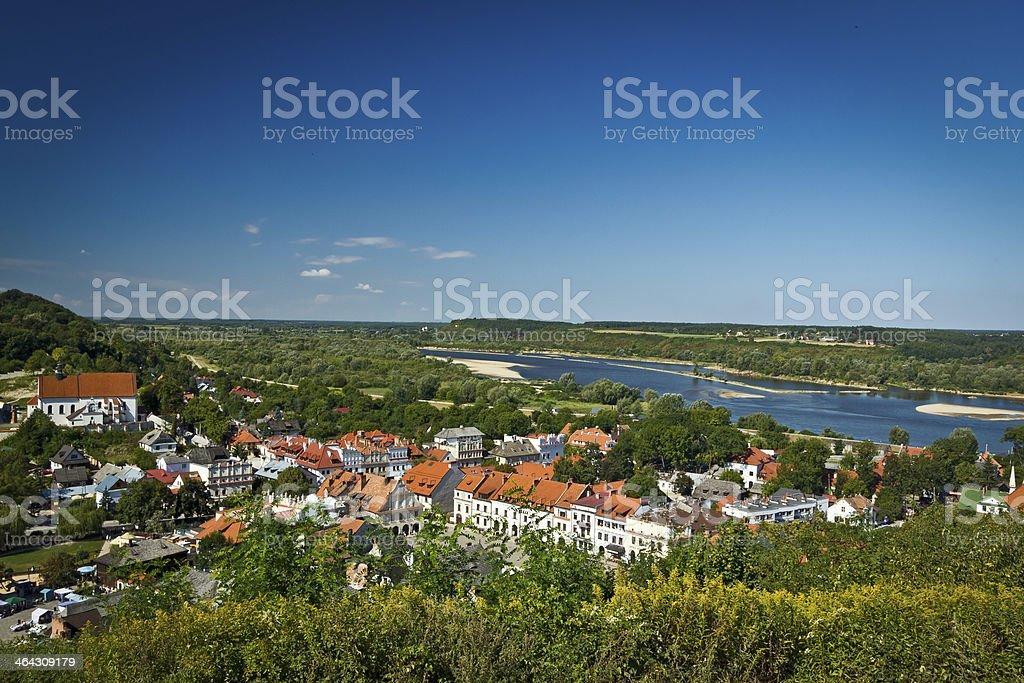 Kazimierz Dolny Aerial View, Poland stock photo
