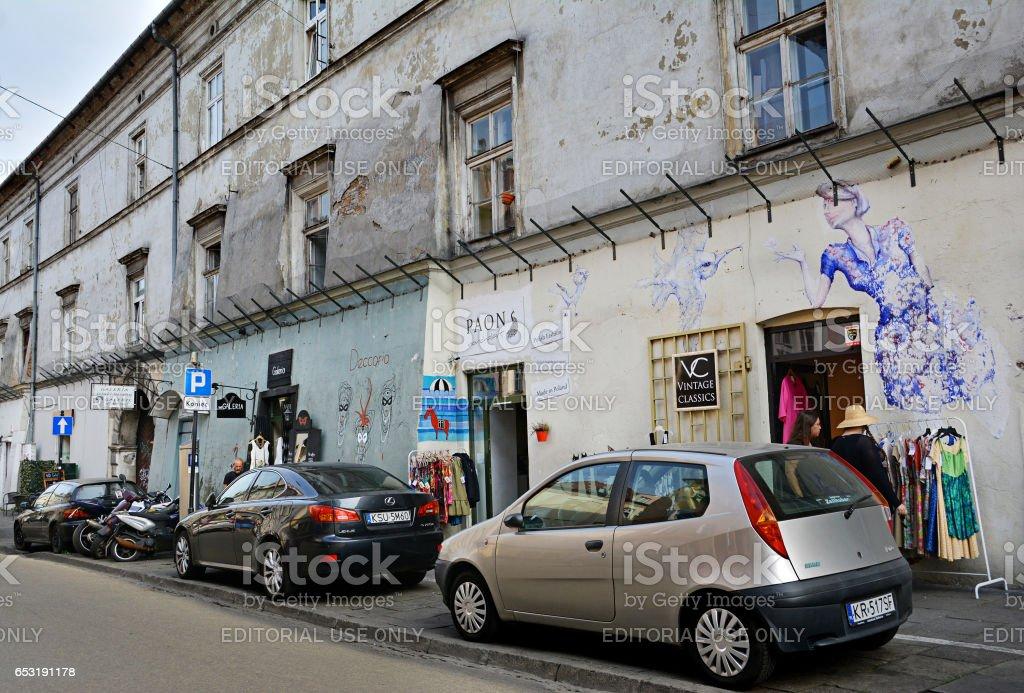 Kazimierz Quarter, historical district of Krakow stock photo
