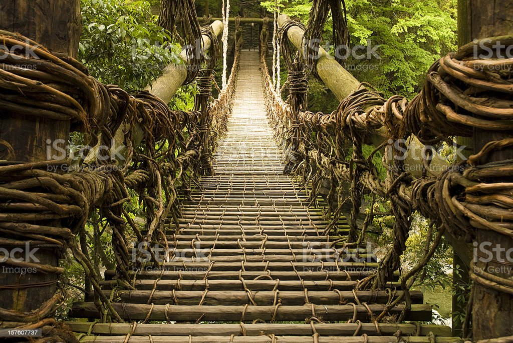 Kazurabashi Vine Bridge stock photo