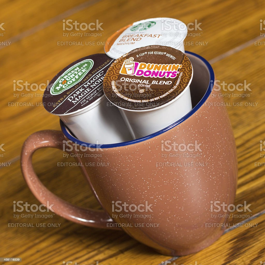 K-Cup Coffee Pods royalty-free stock photo