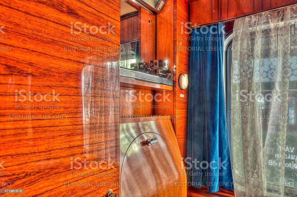 'Kádár' train's sleeping cabin royalty-free stock photo