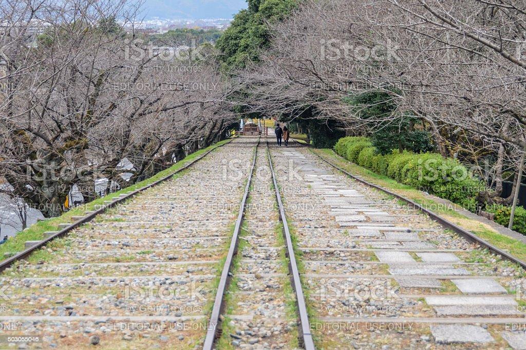 Keage incline in Kyoto, Japan stock photo