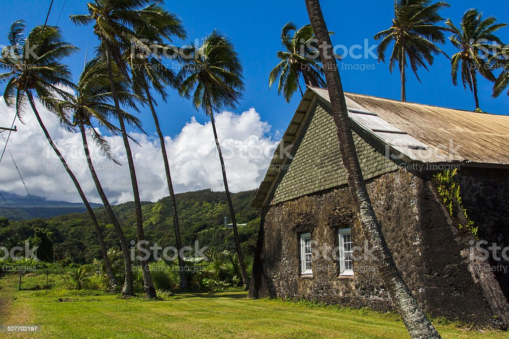 Ke'anae Congregational Church, Maui, Hawaii stock photo