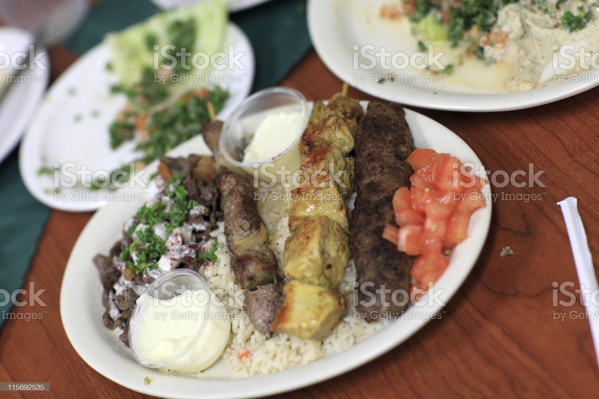 kebab in Libyan restaurant royalty-free stock photo