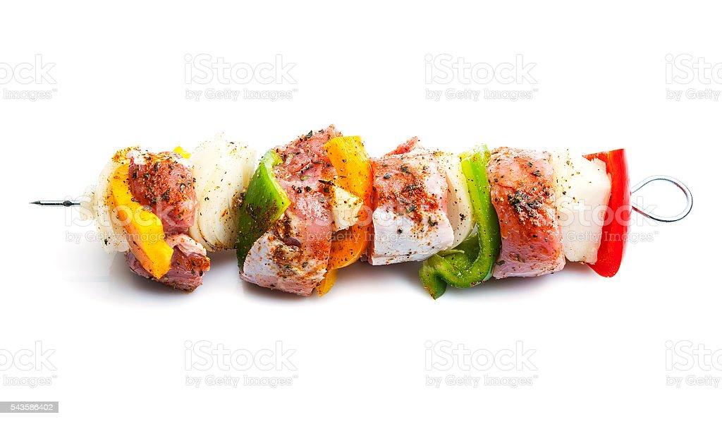 Kebab on skewers stock photo