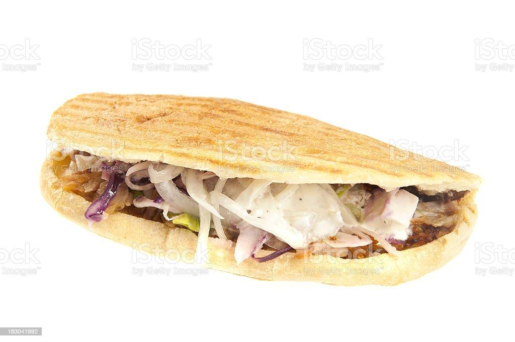 kebab on white stock photo
