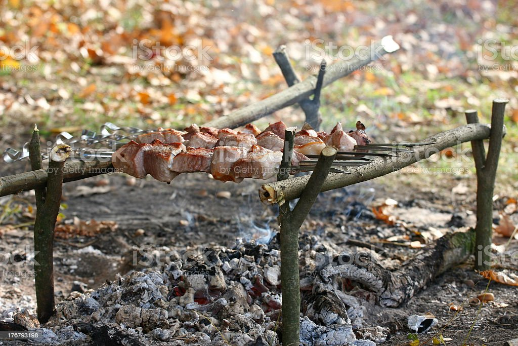 kebab outdoor royalty-free stock photo