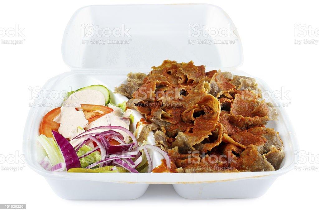 Kebab with salad royalty-free stock photo