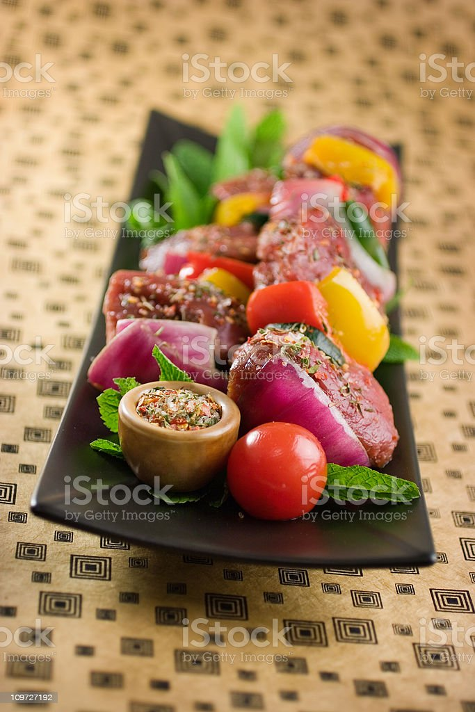 Kebabs with Spice Rub royalty-free stock photo