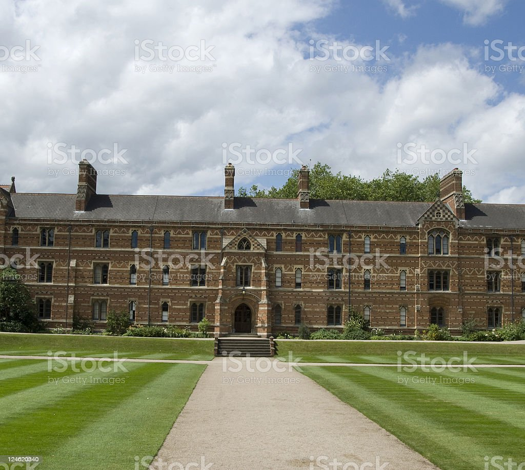 Keble University royalty-free stock photo