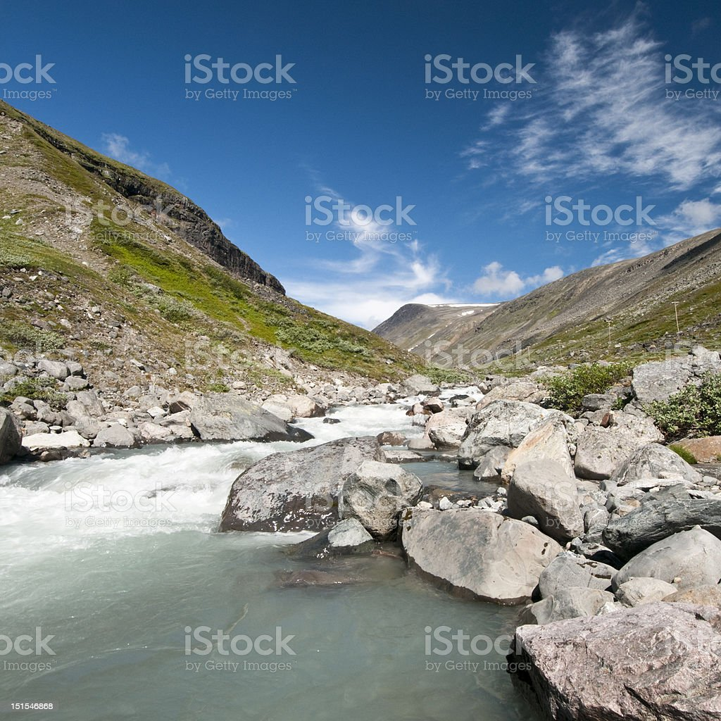 Kebnekaise National Park royalty-free stock photo