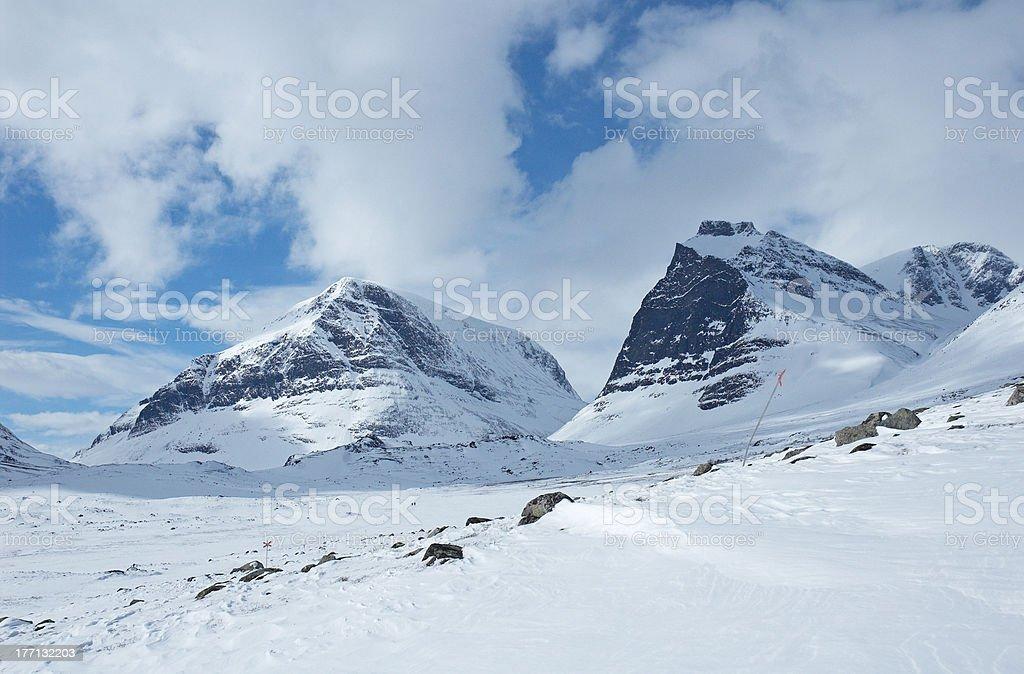 Kebnekeise mountain royalty-free stock photo