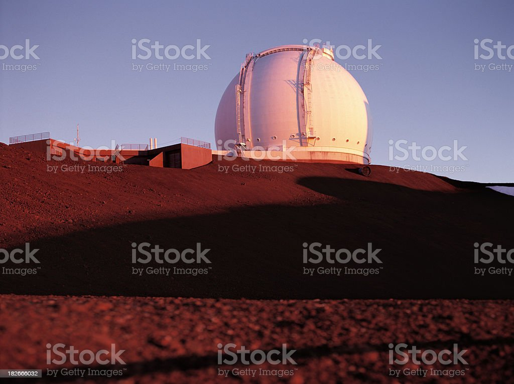 Keck Observatory, Hawaii. stock photo
