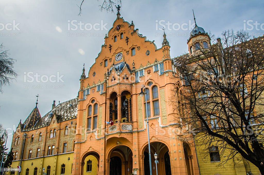 Kecskemet, Hungary Town Hall stock photo