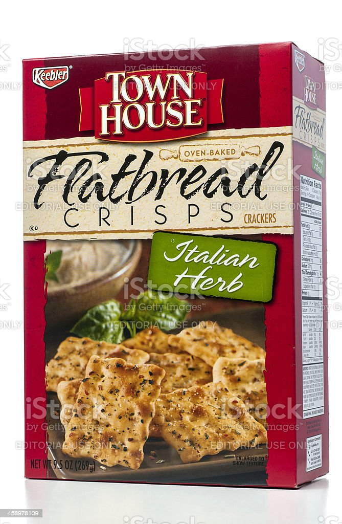 Keebler Town House Flatbread Crisps Crackers Italian Herb stock photo