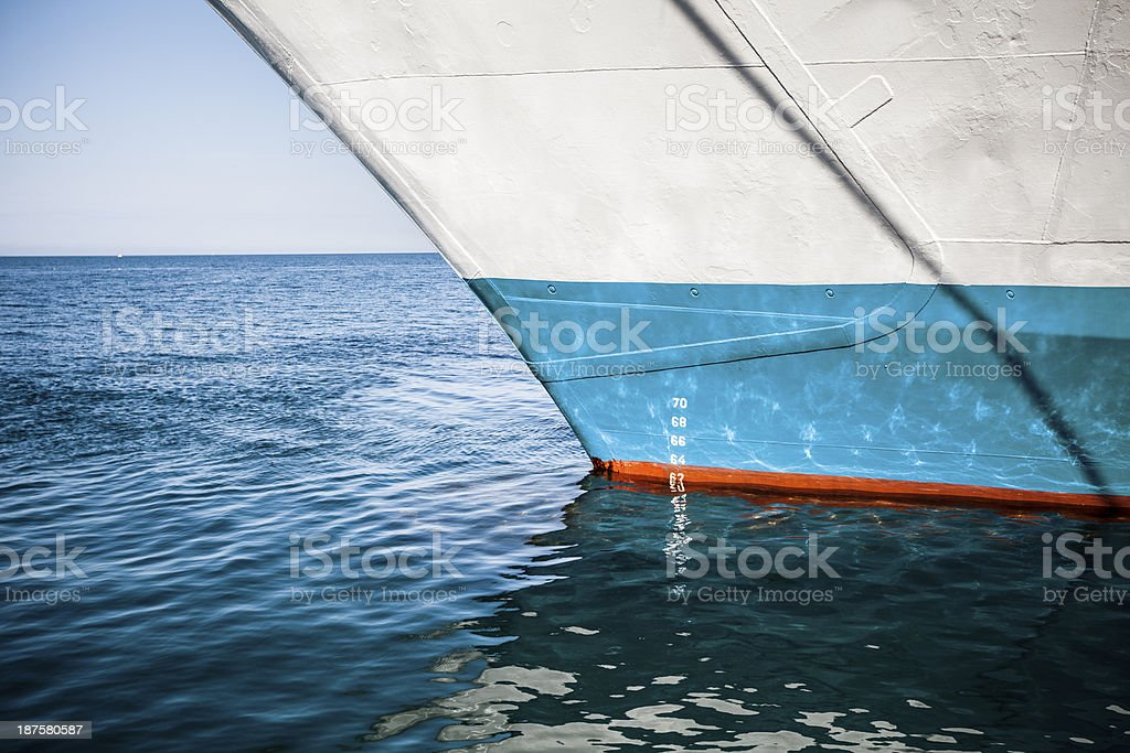 Keel of ship royalty-free stock photo