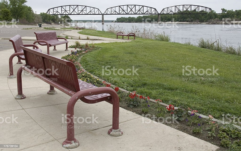 Keelboat Park royalty-free stock photo