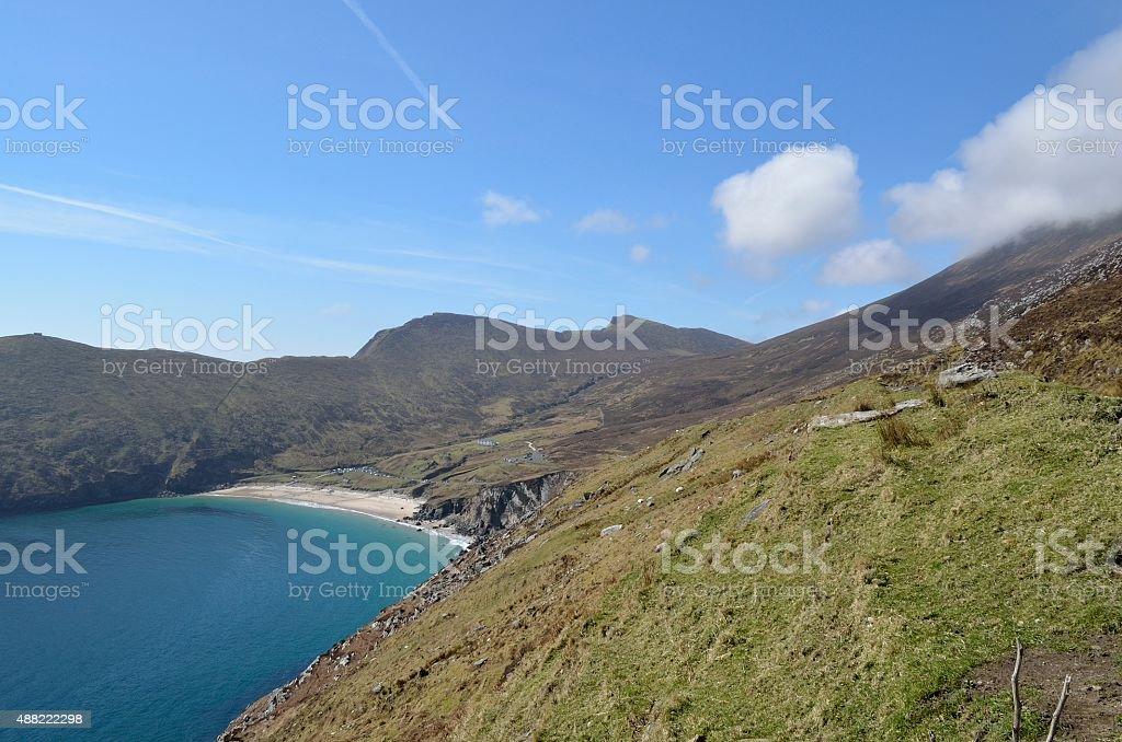 Keem Bay & Croaghaun cliffs royalty-free stock photo