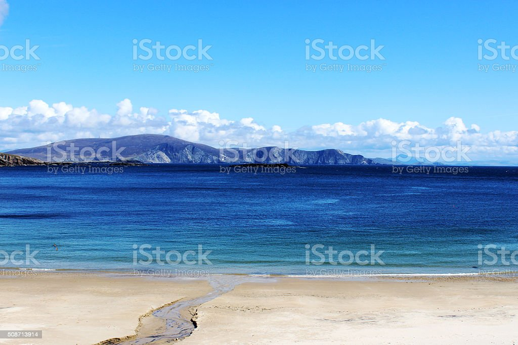 Keem beach, County Mayo, Achill Island, Ireland stock photo