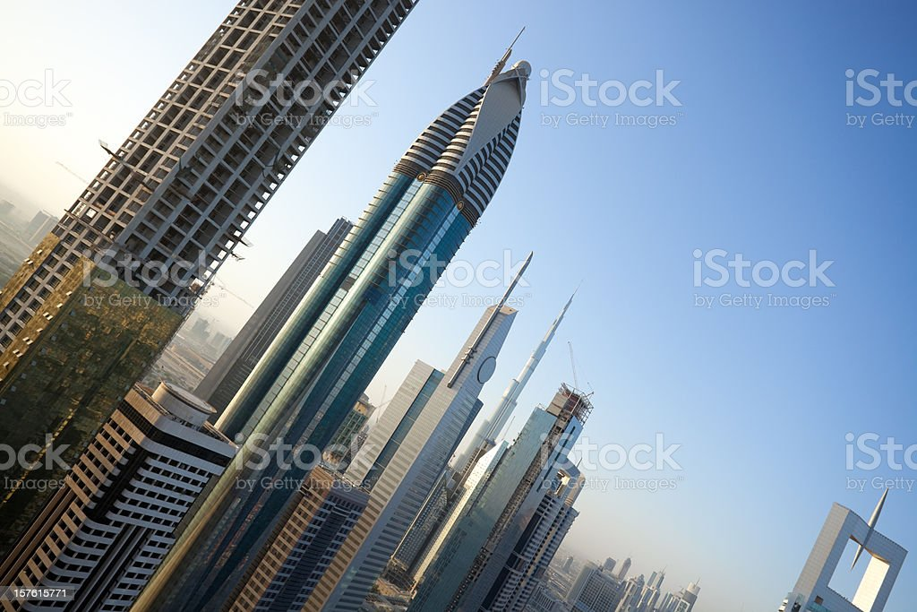 keen perspective of skyscrapers royalty-free stock photo